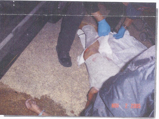 This crime scene photo was provided to the author by the victim's family.