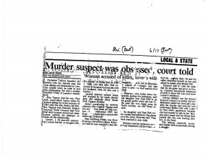A newspaper report about the case.