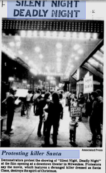 A Milwaukee protest at the opening of Silent Night, Deadly Night in November 1984.